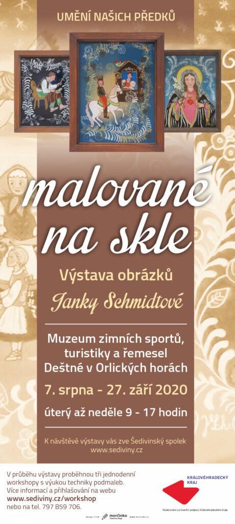 Výstava podmaleb na skle Janky Schmidtové v Muzeu v Deštném @ Muzeum turistiky, zimních sportů a řemesel
